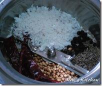 Coriander,coconut,red chillies,pepper,jeera